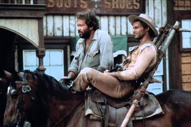 Bud Spencer (Bambino) and Terence Hill (Trinity)