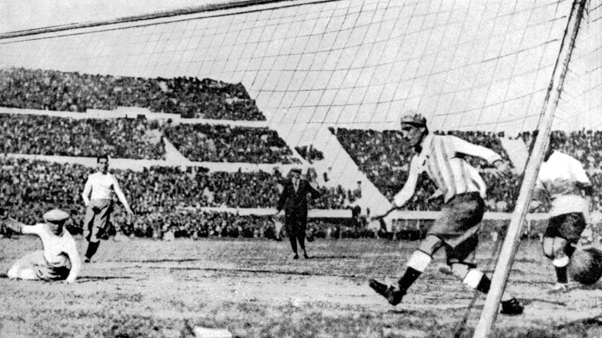 Finale Uruguay-Argentina - L'1-0 di Dorado