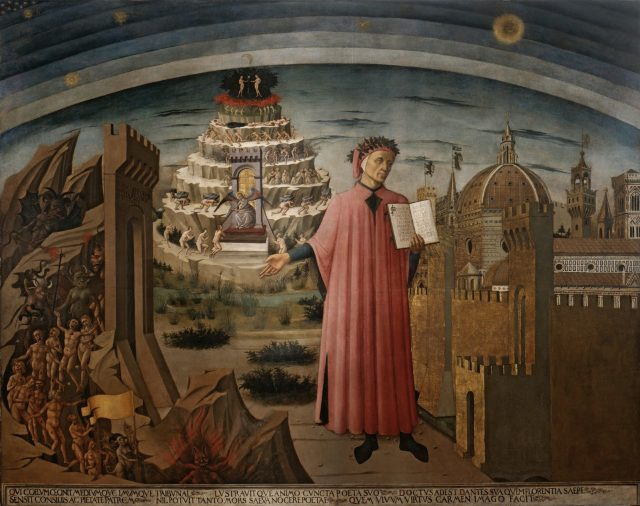 Domenico di Michelino, Dante con in mano la Divina Commedia, 1465