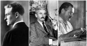 F. Scott Fitzgerald, William Faulkner, Ernest Hemingway