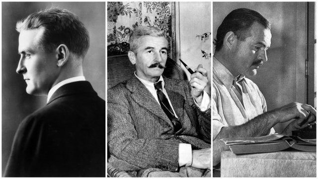 F. Scott Fitzgerald, William Faulkner, Ernest Hemingway