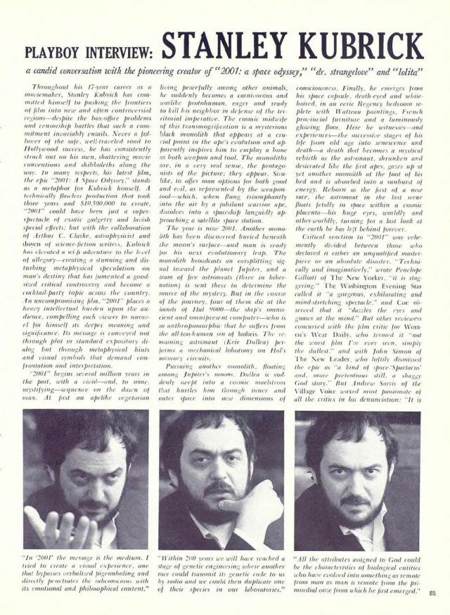 Playboy interview - Stanley Kubrick