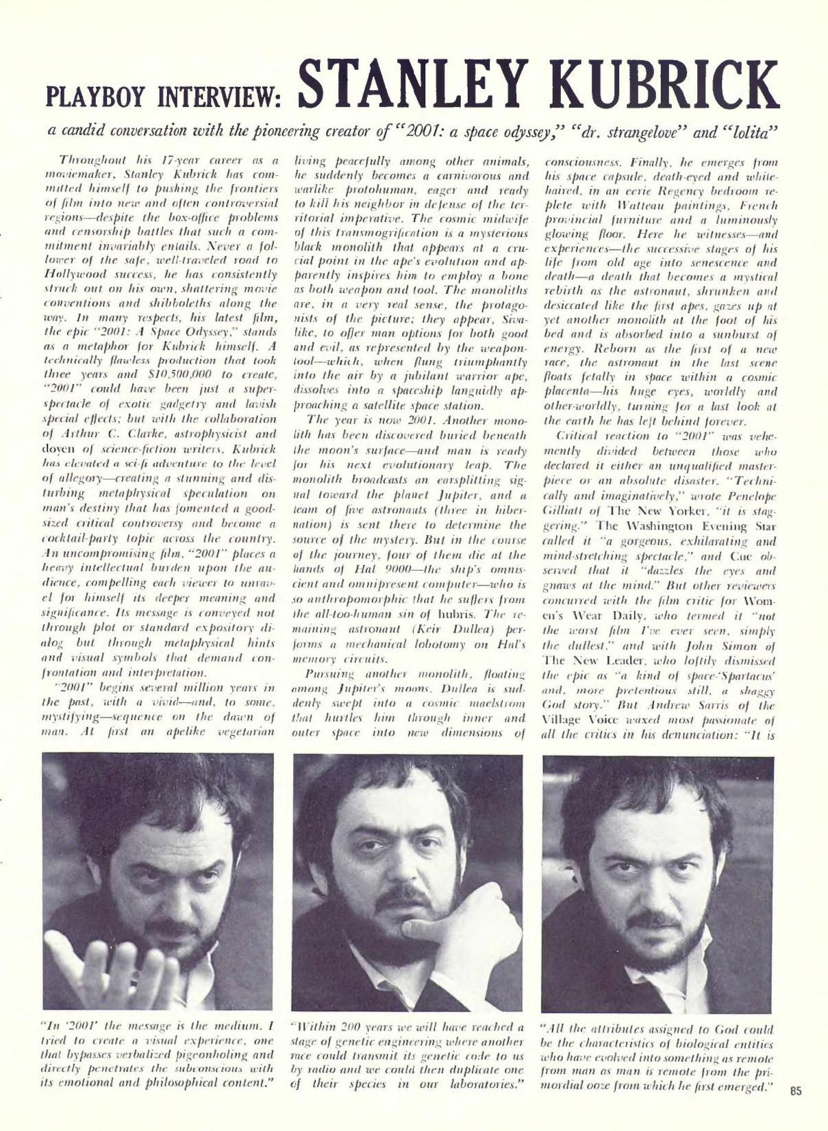 Playboy interview - Stanley Kubrick