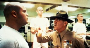 FULL METAL JACKET 1987 DIRECTED BY STANLEY KUBRICK Vincent d'Onofrio, Matthew Modine and R.Lee Ermey