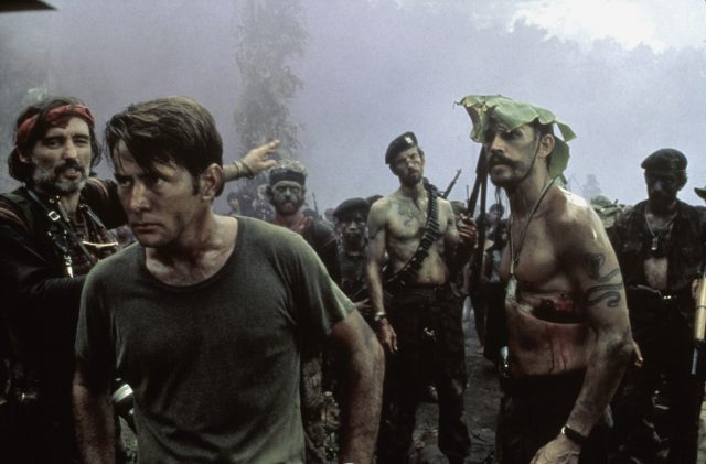 Apocalypse Now - The Photojournalist (Dennis Hopper), Captain Benjamin L. Willard (Martin Sheen) and Jay 'Chef' Hicks (Frederic Forrest)