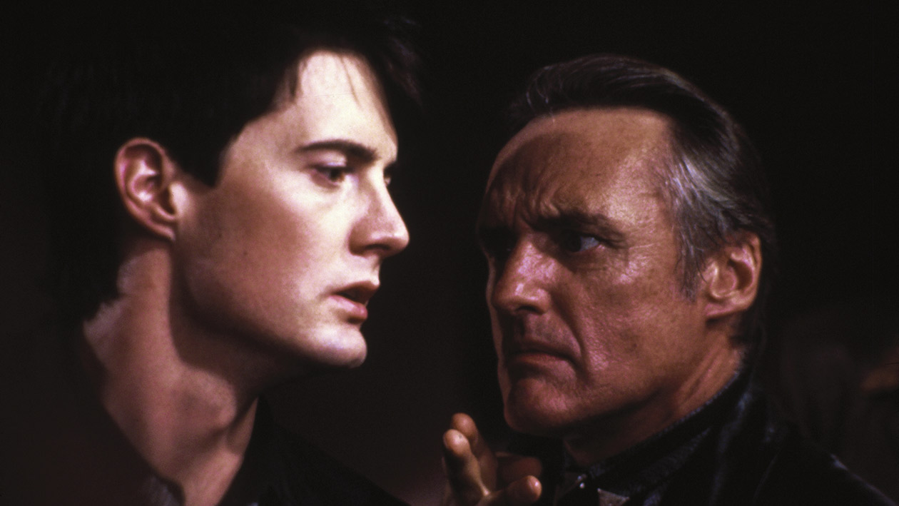 Blue Velvet (1986) - Jeffrey Beaumont (Kyle Mclachlan) and Frank Booth (Dennis Hopper)