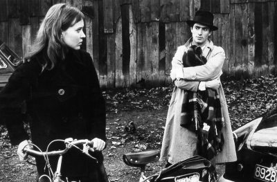 Anna Karina and Sami Frey in Jean-Luc Godard's Band of Outsiders (1964)