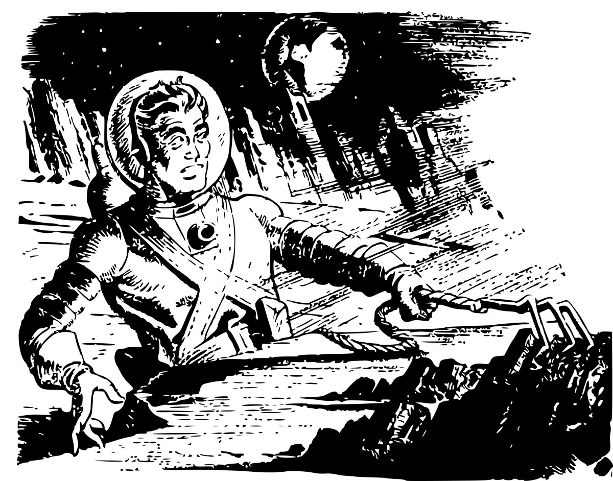 "Sentinel of Eternity by Arthur C. Clarke - 1951 Spring Issue of ""10 Story Fantasy"""