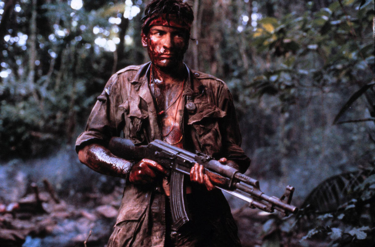 Platoon (1986), written and directed by Oliver Stone. The war through the eyes of new recruit Chris Taylor (played by Charlie Sheen)