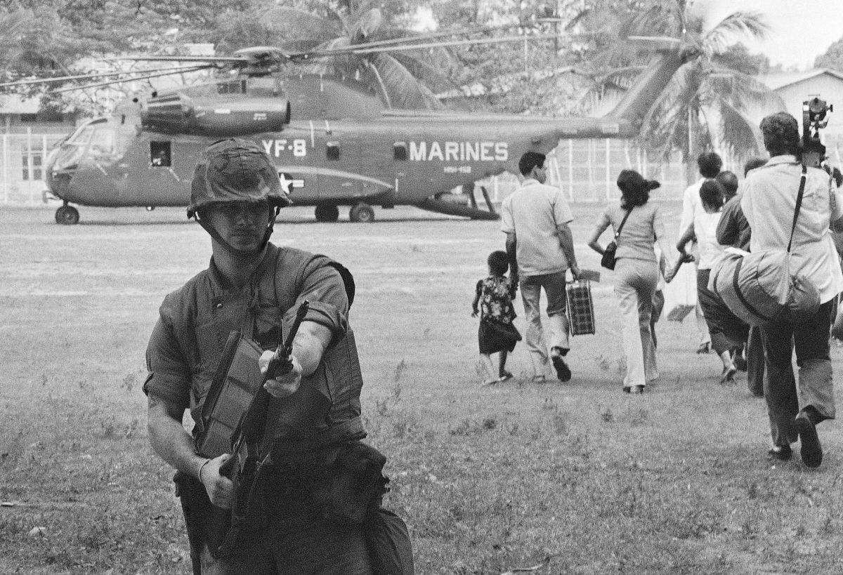 Operation Eagle Pull. The United States military evacuation by air of Phnom Penh, Cambodia, on 12 April 1975