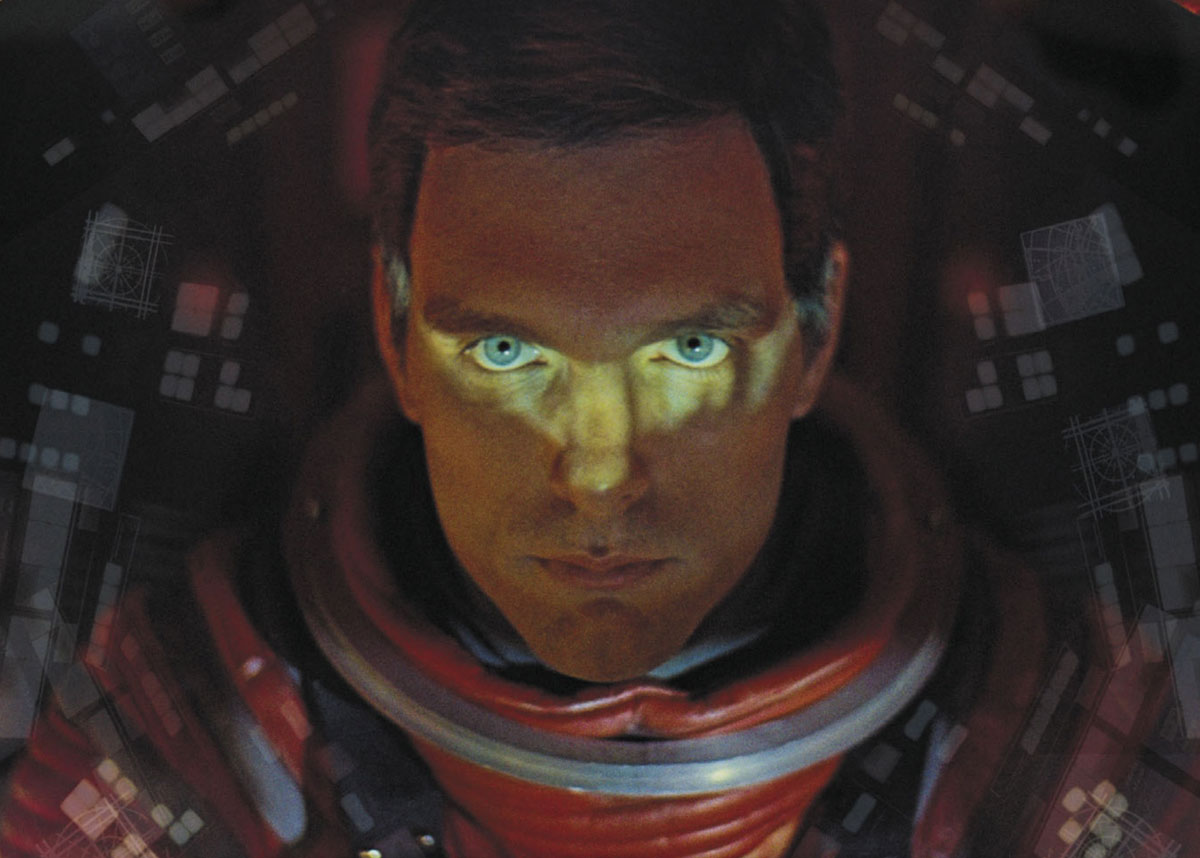 Keir Dullea as Dr Dave Bowman in 2001: A Space Odyssey