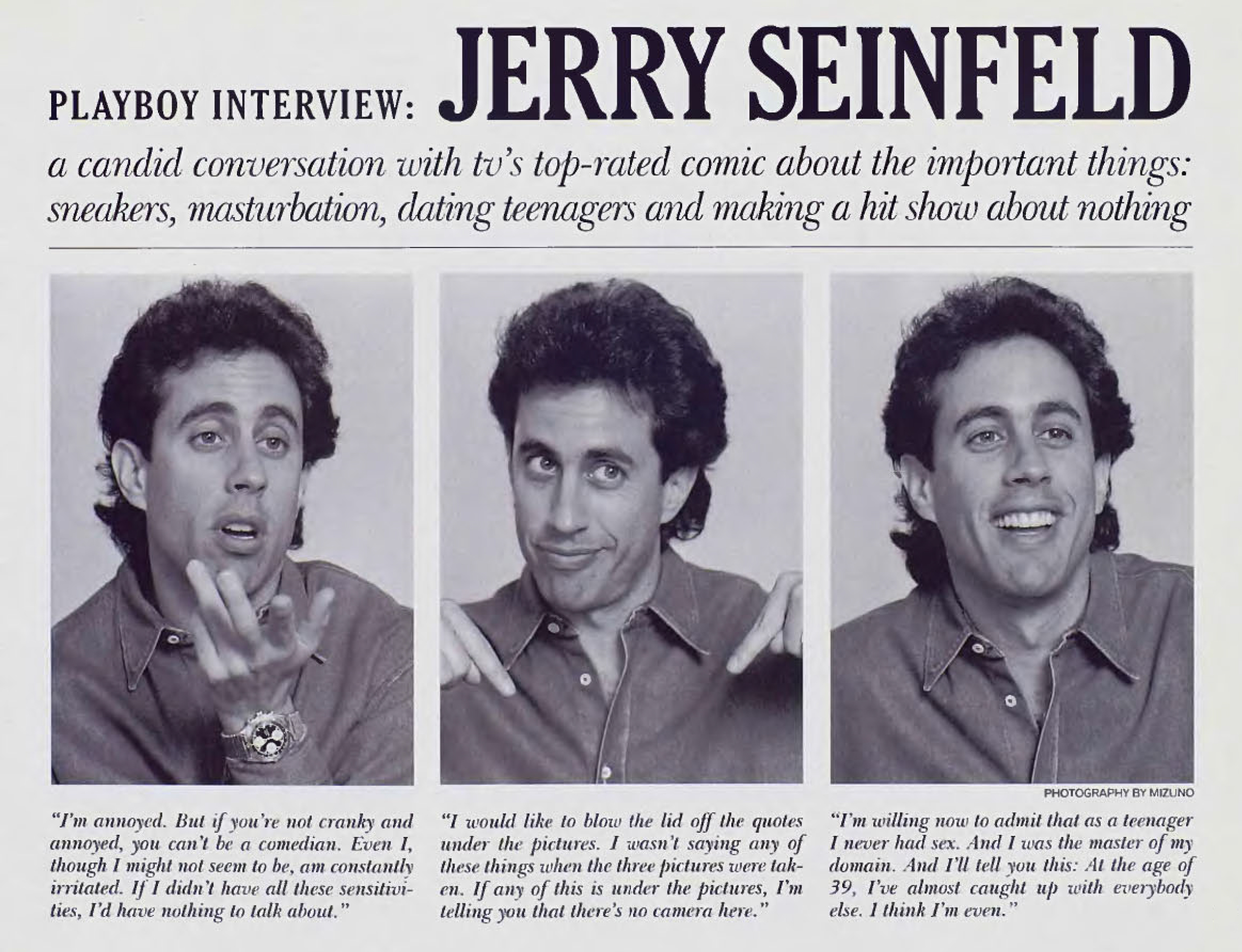 Jerry Seinfeld - Playboy Interview 1993