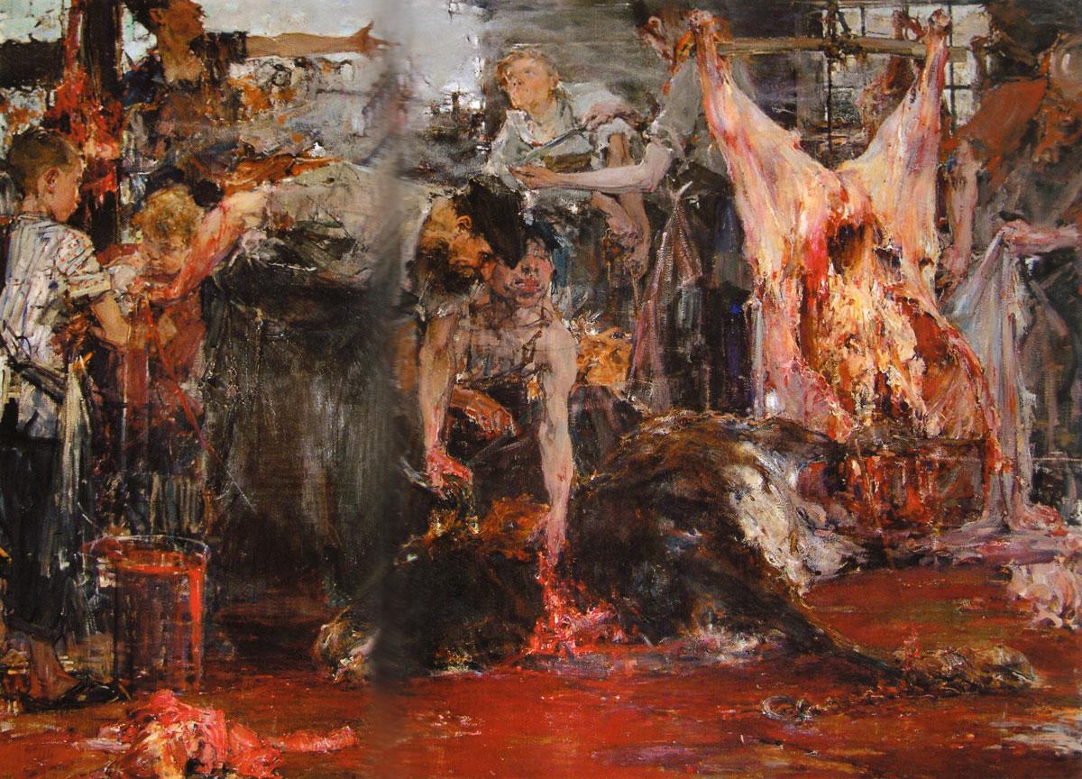 Nicolai Fechin - The Slaughterhouse, 1919