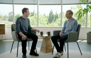 Mark Zuckerberg and Yuval Noah Harari