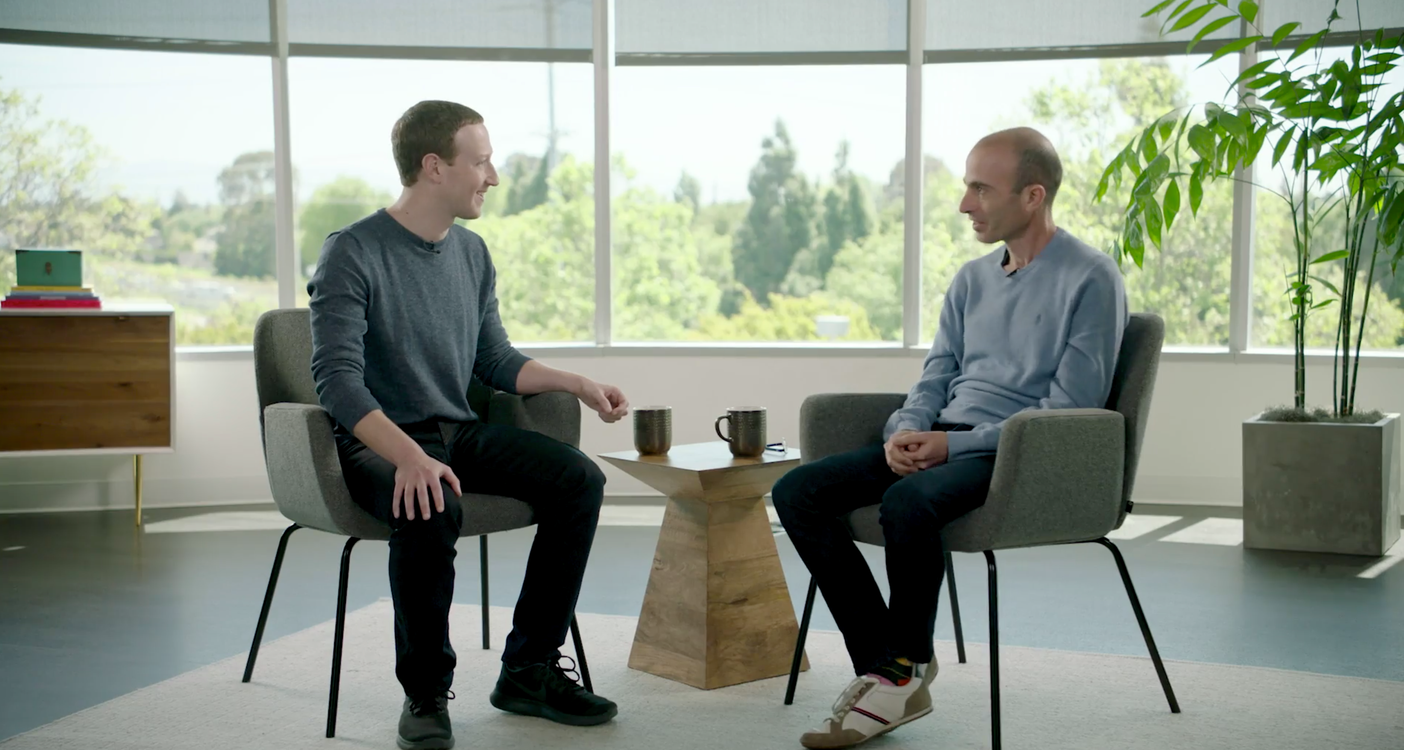Mark Zuckerberg and Yuval Noah Harari
