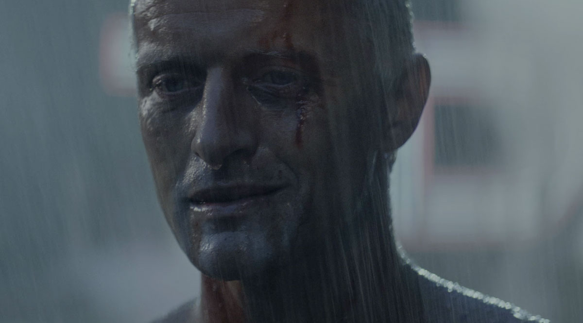 """Tears in rain"" - Roy Batty (portrayed by Rutger Hauer) in the 1982 Ridley Scott film Blade Runner"