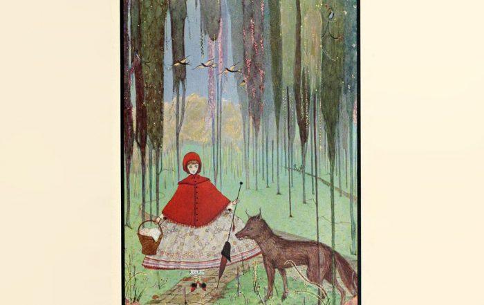 Harry Clarke illustration for Charles Perrault 'Little Red Riding Hood'