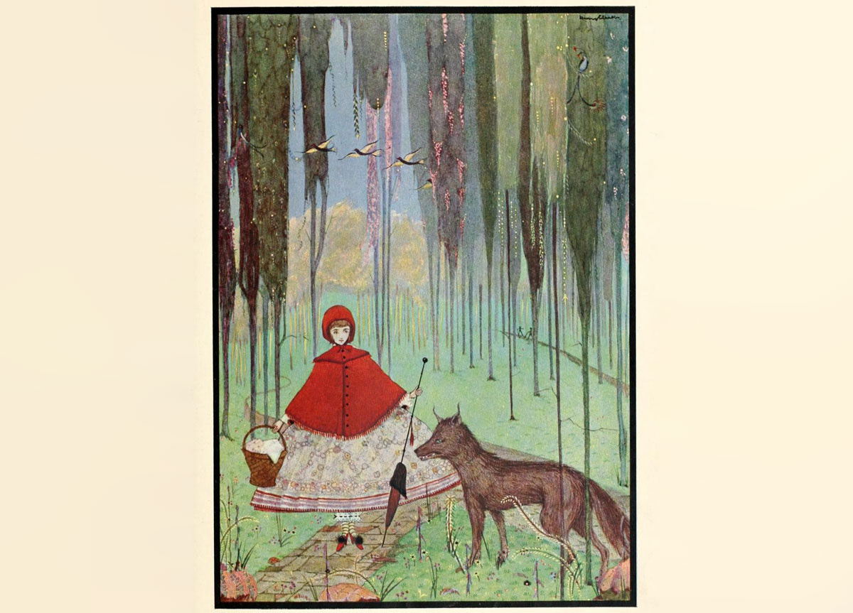 Harry Clarke illustration for Charles Perrault 'Little Red Riding Hood'