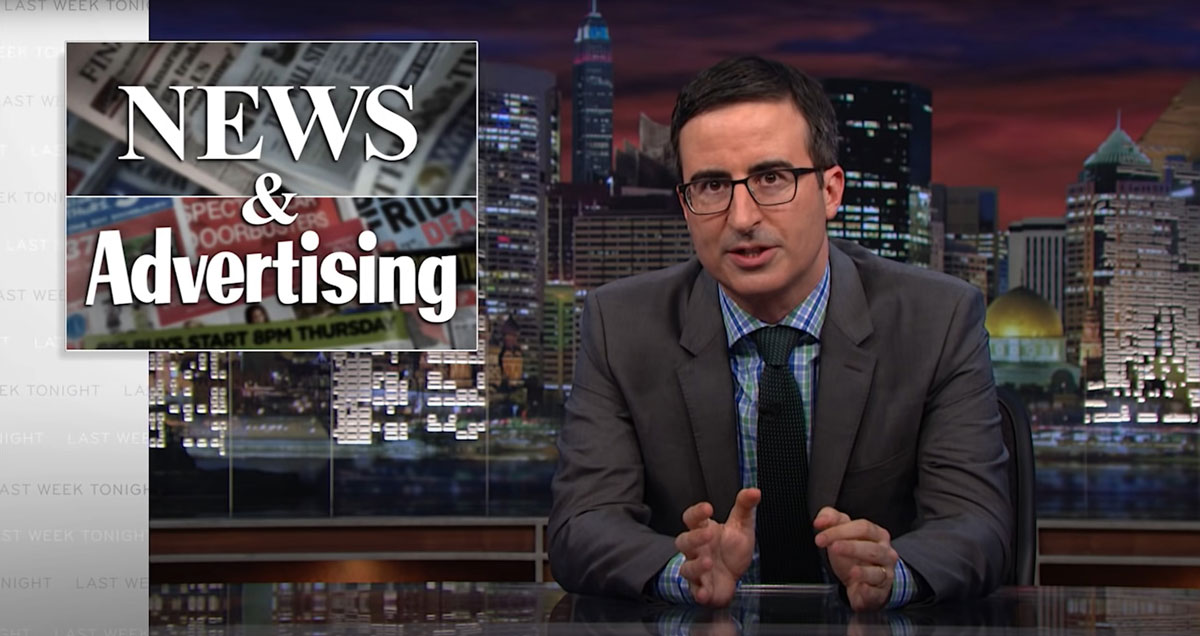 Native Advertising: Last Week Tonight with John Oliver