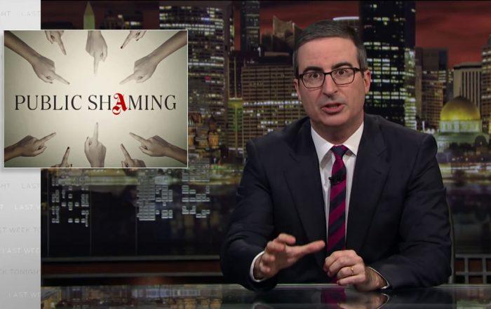 Public shaming: Last Week Tonight with John Oliver