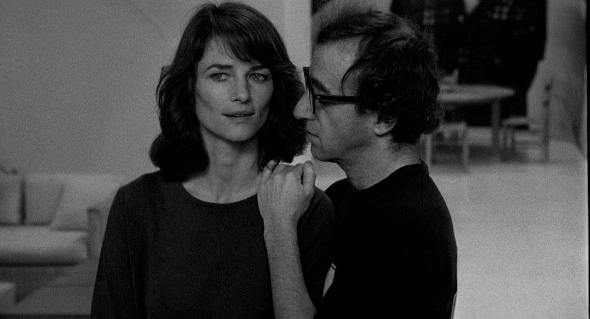 "Charlotte Rampling and Woody Allen in ""Stardust Memories"" (1980)"