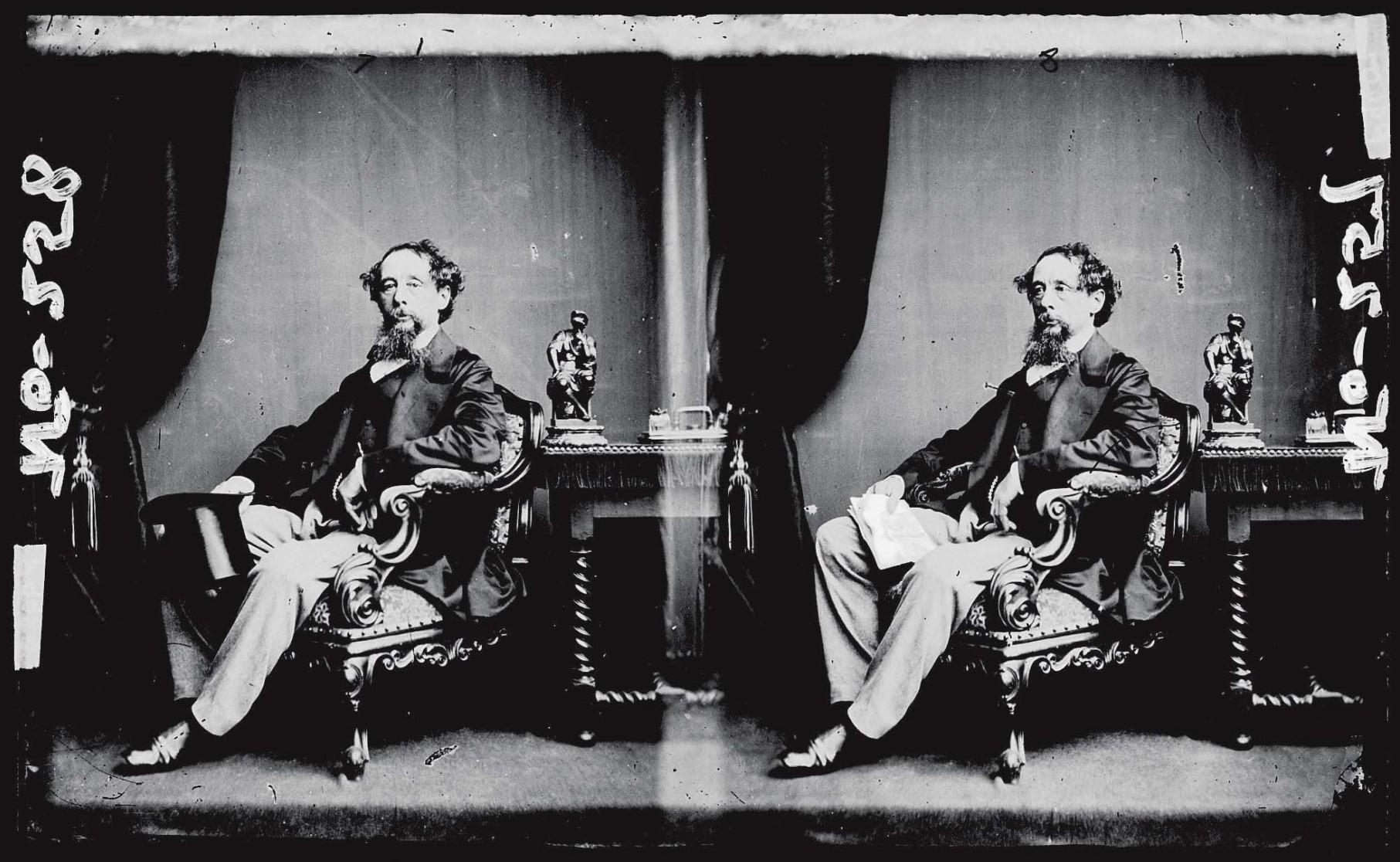 Charles Dickens (1812 - 1870), circa 1860