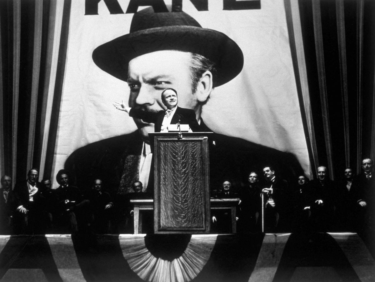 1941: Orson Welles in 'Citizen Kane', directed by himself for RKO.