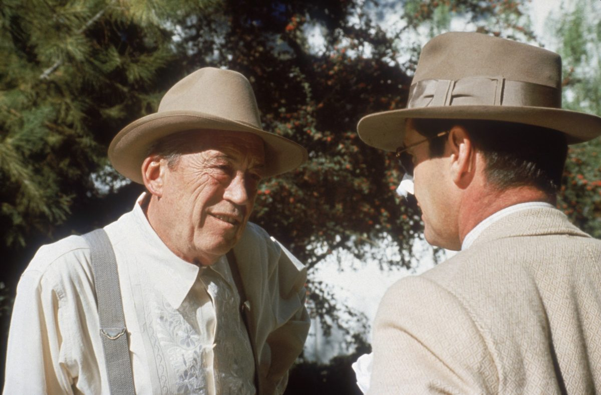 John Huston and Jack Nicholson in Chinatown (1974)