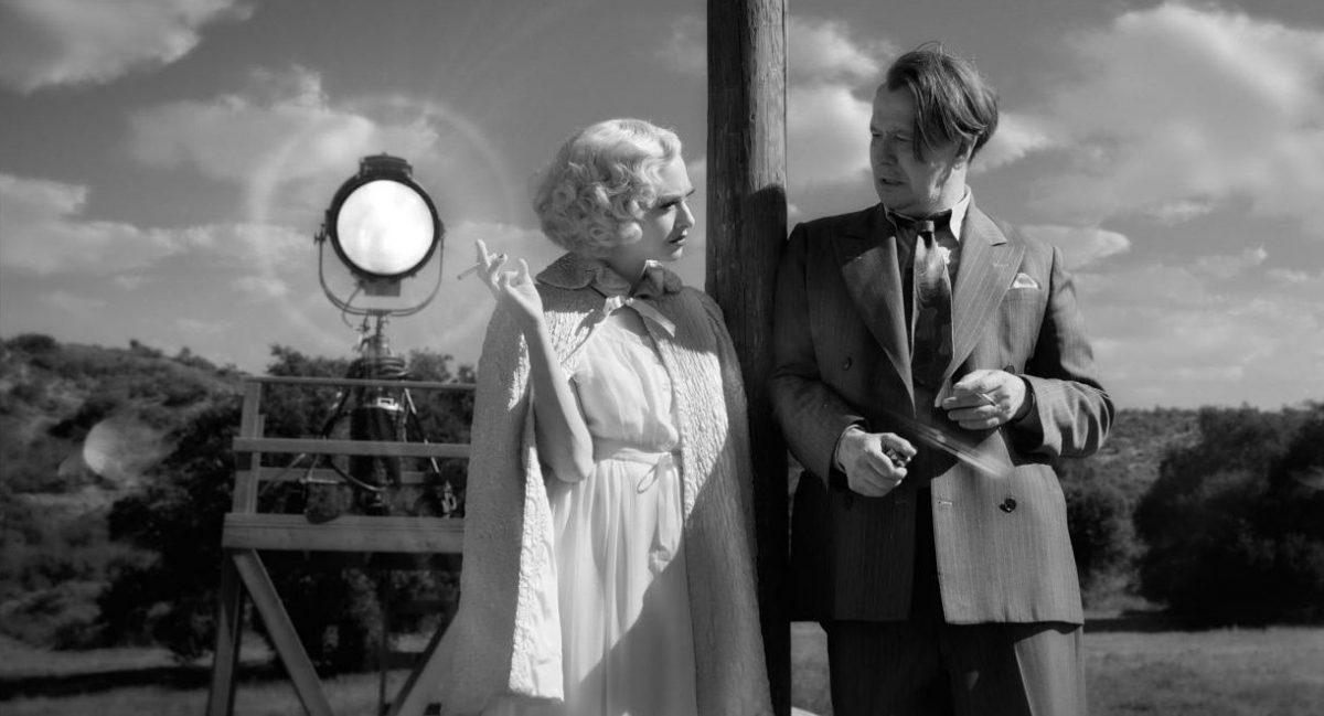 Mank (2020) Amanda Seyfried (Marion Davies) and Gary Oldman (Herman Mankiewicz)