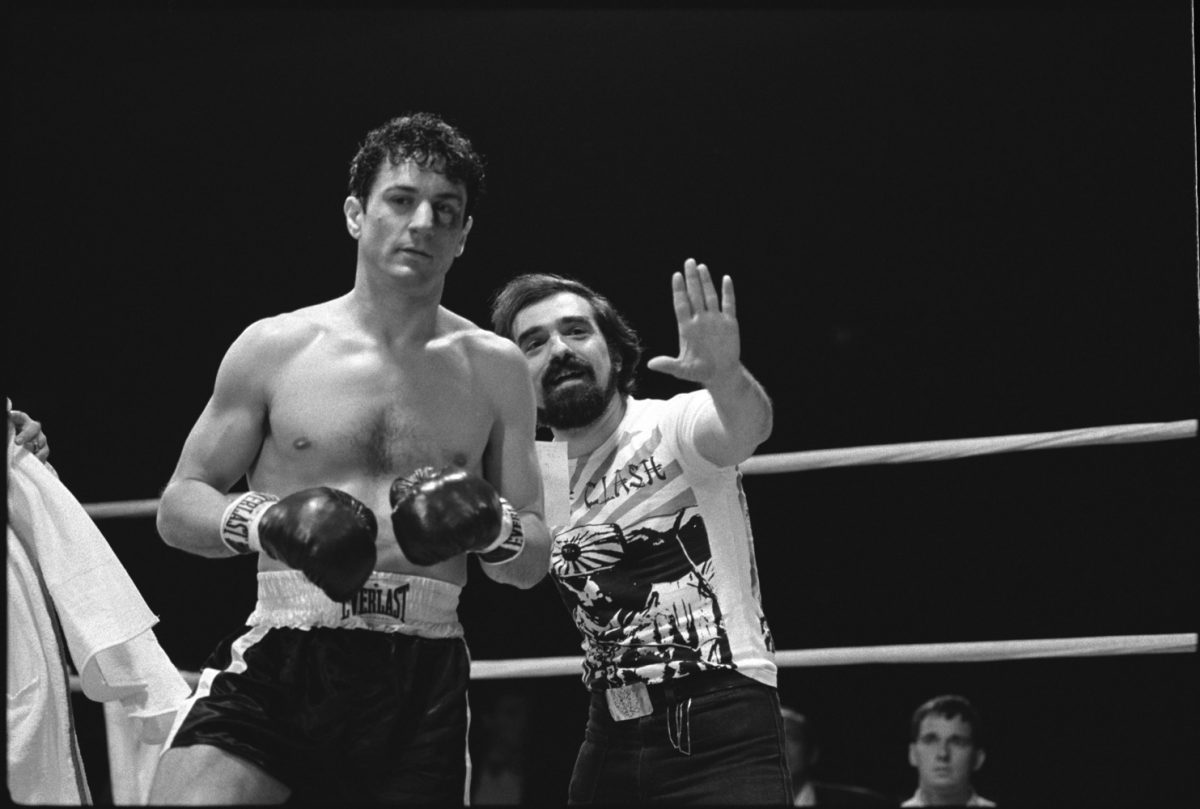 Raging Bull (1980) De Niro and Scorsese on set