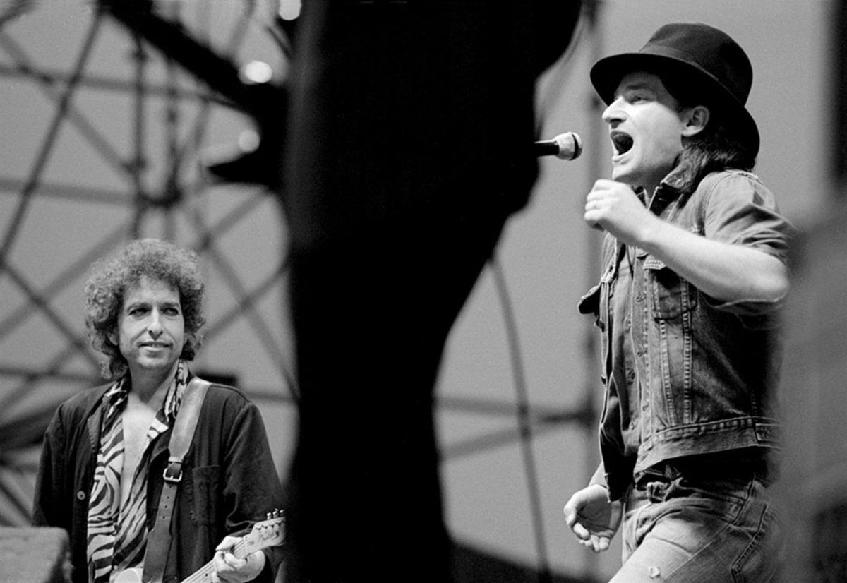 Bob Dylan and Bono at Slane Castle 1984
