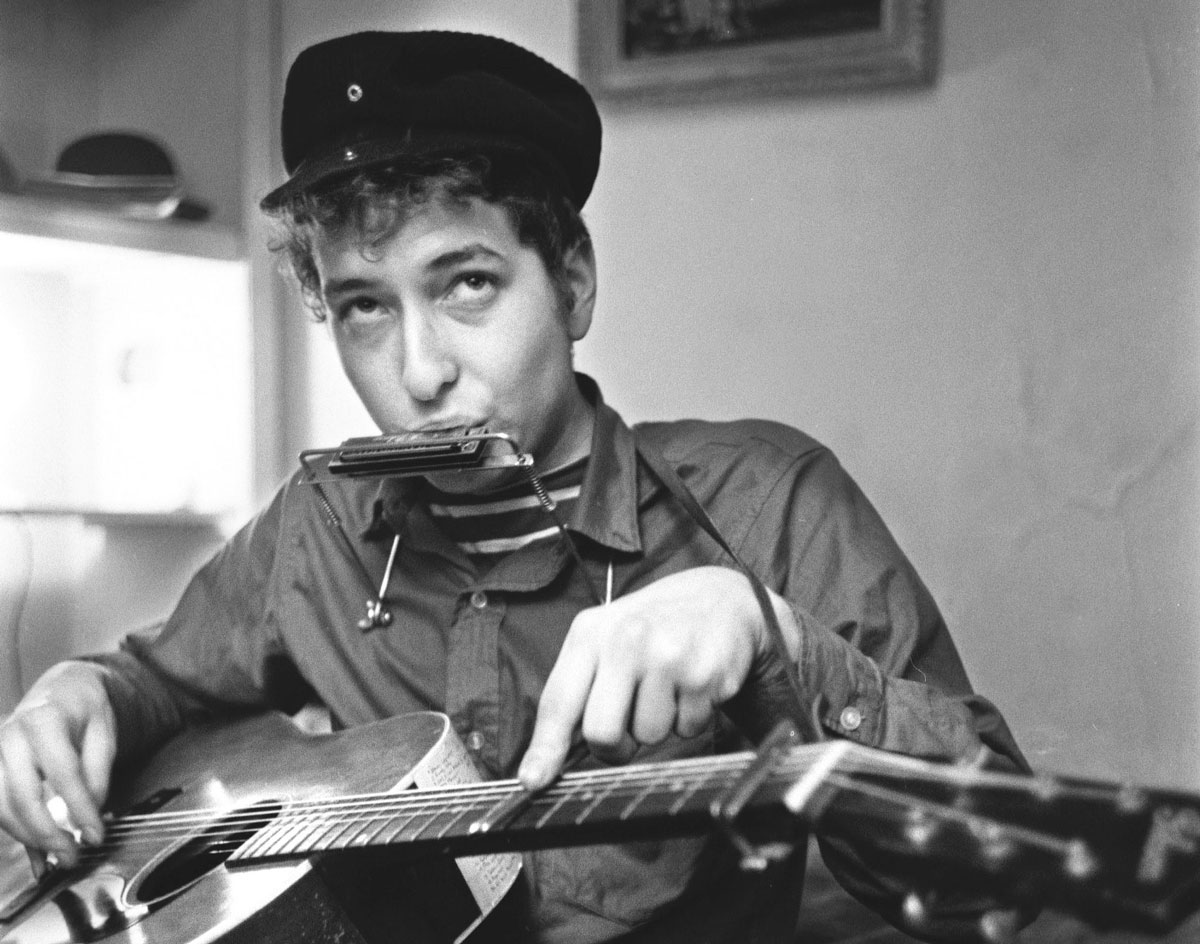Bob Dylan in 1964 - Photograph by Ted Russell / Polaris