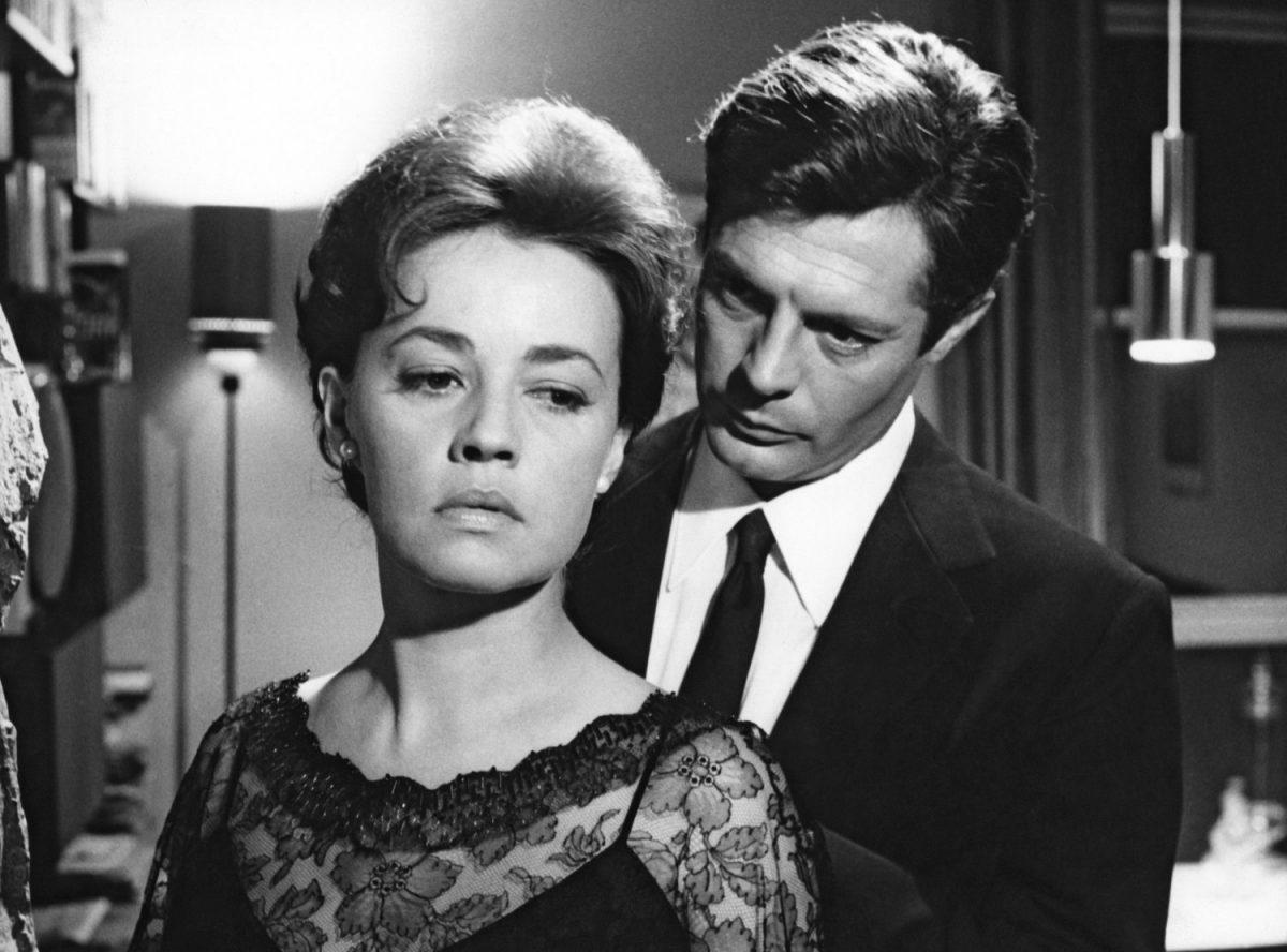 """Jeanne Moreau and Marcello Mastroianni in """"La Notte"""" di Michelangelo Antonioni"""