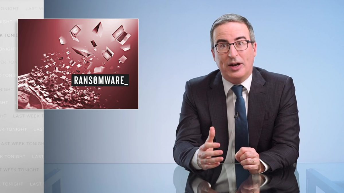 Ransomware Last Week Tonight with John Oliver